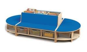 Isle of Lesen, Modular Lese Möbeln für Kinder, in Buchenholz, Möbel für den Kindergarten