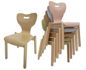 MIA, Kinderstuhl, stapelbar, mit anatomischem Design
