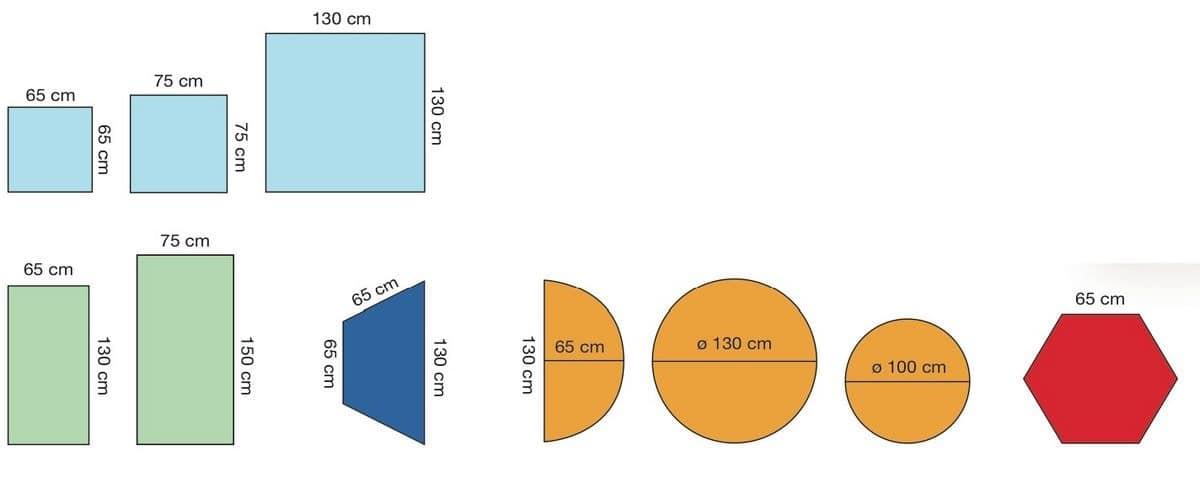 modularer tisch f r kinder aus holz verschiedene farben f r schulen und kinderg rten idfdesign. Black Bedroom Furniture Sets. Home Design Ideas