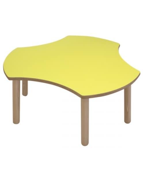Modularer Tisch für Kinder, abgerundete Kanten und Ecken