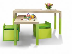 Tavolo, Kindertisch mit variabler Höhe