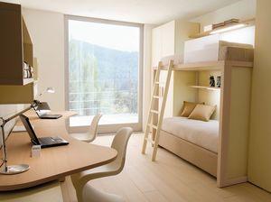 Boxer 7001, Kid Schlafzimmer mit Doppelschreibtisch und Etagenbett