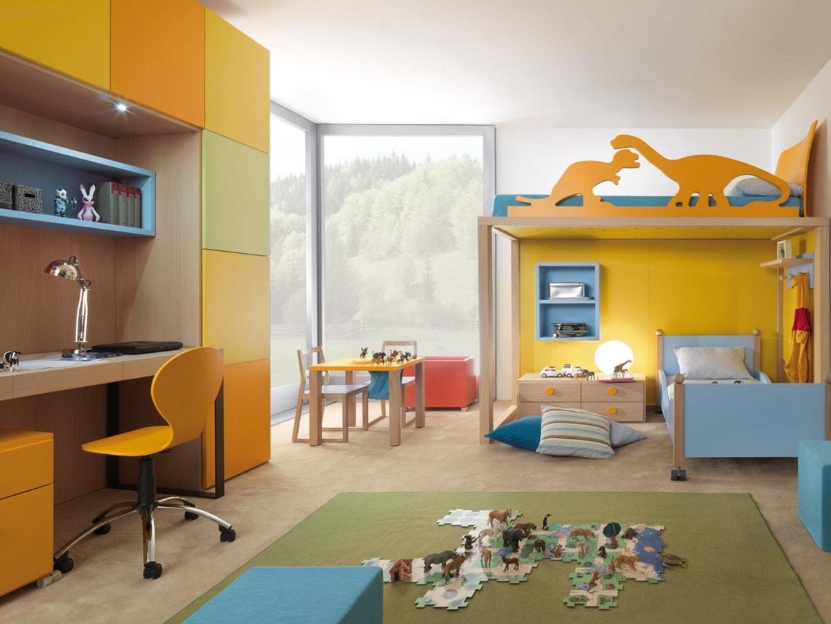Kinderschlafzimmer mit Etagenbett | IDFdesign