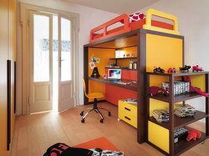 Boxer 9008, Schlafzimmer mit Bett, umwandelbar in einen Schreibtisch