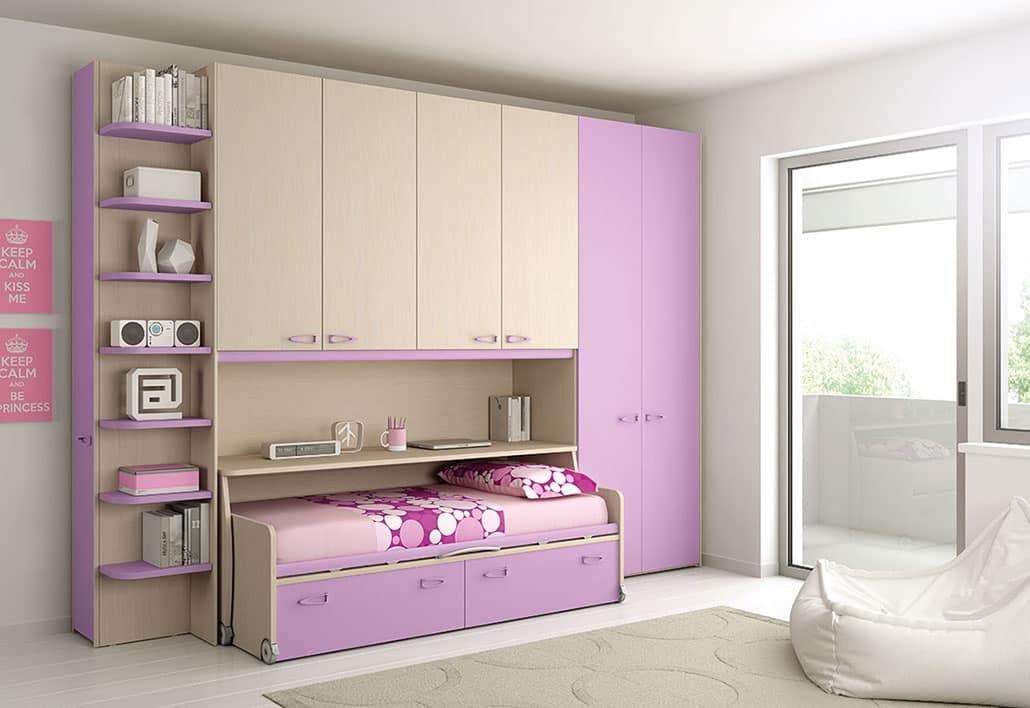 Schlafzimmer mit Möbel auf Rädern mit Anti-Blockier-System   IDFdesign