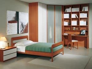 Camera Ragazzi 03, Modernes Schlafzimmer für Kinder, mit Eckschrank