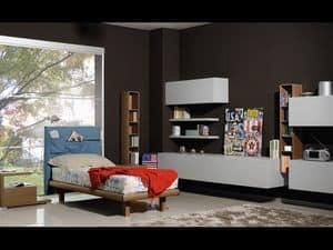 Climb Jungs 04, Schlafzimmer für Jungen, mit Möbeln in modernem Stil