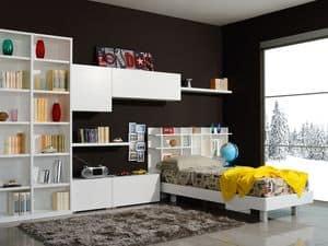 modernes schlafzimmer f r kinder mit eckschrank idfdesign. Black Bedroom Furniture Sets. Home Design Ideas