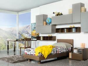 Climb Jungs 13, Modulare Schlafzimmer für Kinder, funktional und modern