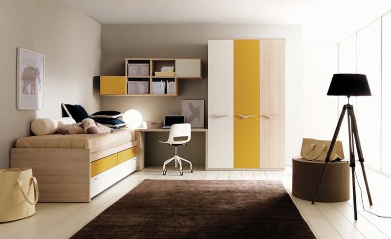 109, Schlafzimmer Kinder, Warme Farben, Beständige Oberflächen