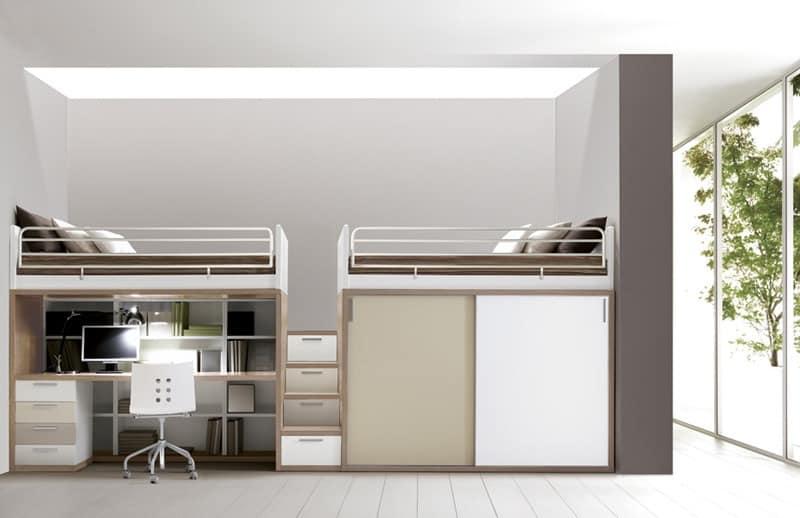 Schlafzimmermöbel, Bett, Schreibtisch, Schränke, Regale | IDFdesign