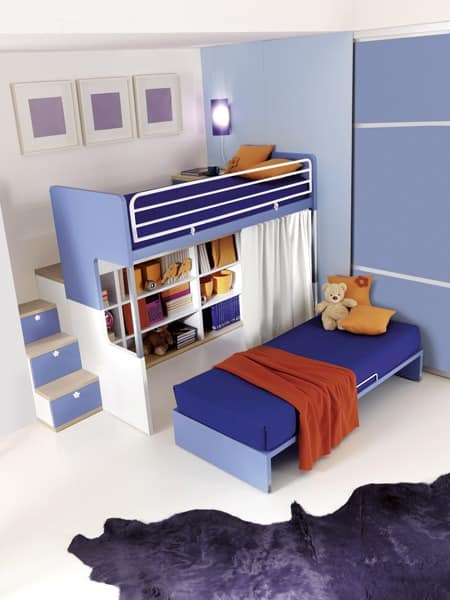 kinderzimmer mit etagenbett funktionale und ordentlich. Black Bedroom Furniture Sets. Home Design Ideas