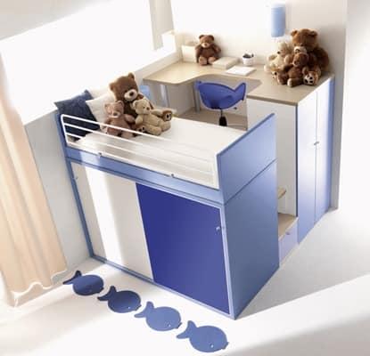 bild von comp 909 bett und nachttisch f r kinder. Black Bedroom Furniture Sets. Home Design Ideas