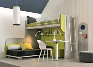 Comp. New 157, Corner Zimmer, die den Raum zu maximieren, mit zwei Betten und Schreibtisch
