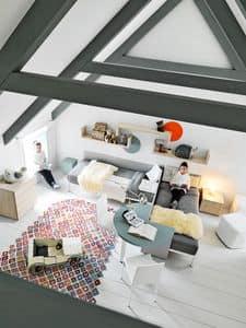 Comp. New 167, Kinderschlafzimmer, um den Raum zu organisieren kreativ