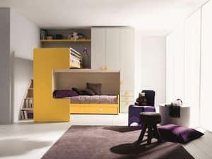 Comp. New 407, Elegante und funktionale Zimmer, mit Doppelbett, Ecke Loft
