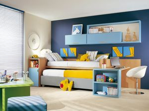Compact 4005, Schlafzimmer mit zweitem Ausziehbett