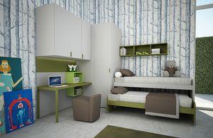 Cool comp.11, Platzsparendes Kinderzimmer mit Eckschrank