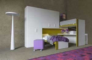 Cool comp.23, Platzsparendes Schlafzimmer mit Schiebebetten