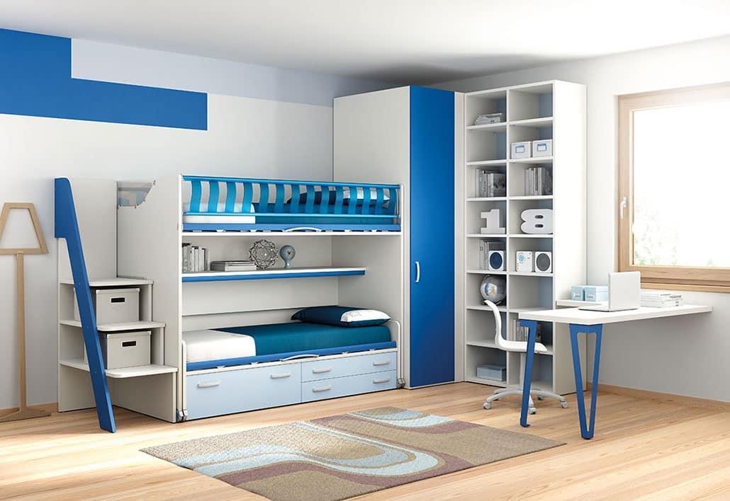 Hochbett für Kinder Schlafzimmer, praktisch und funktionell | IDFdesign
