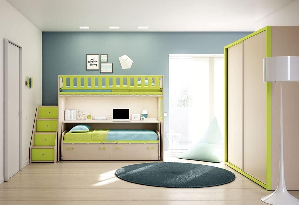 Moderne Kinderzimmer mit Leiter mit Schubladen | IDFdesign