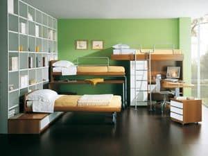 Jungen Zimmer 04, Schlafzimmer für Kinder mit Etagenbetten