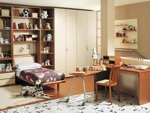 Jungen Zimmer 05, Schlafzimmer für Jungen, anpassbar und innovative
