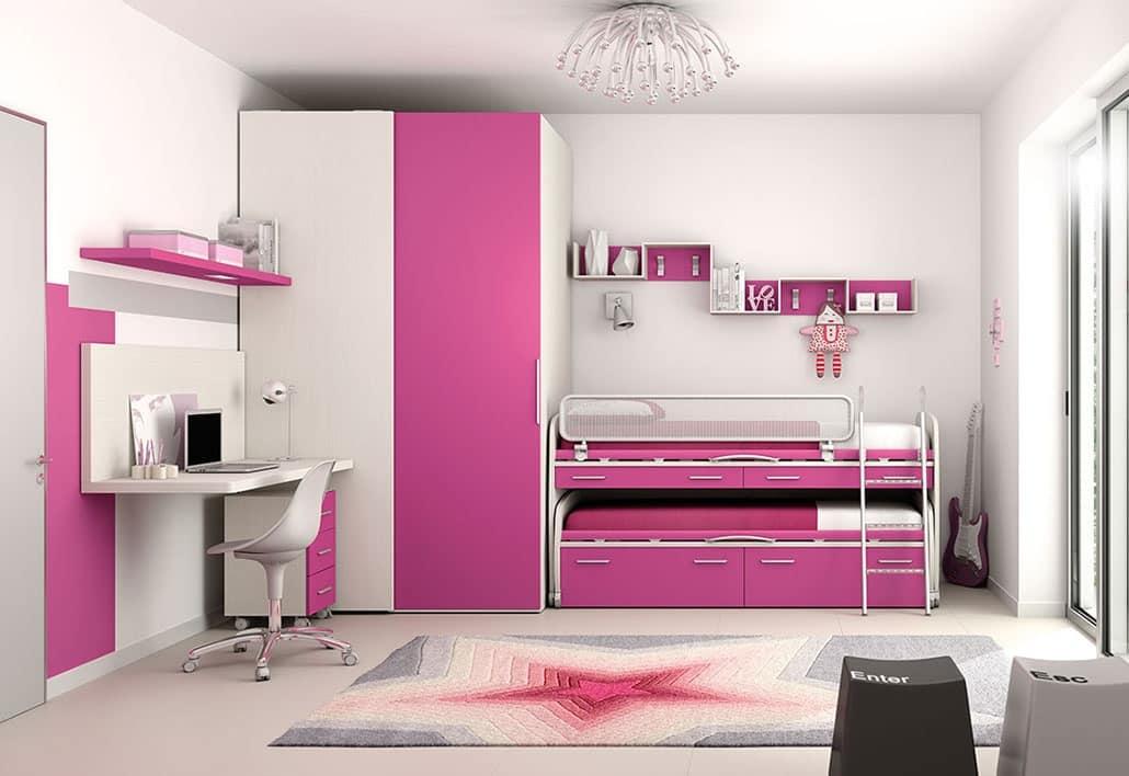 Modernes Kinderschlafzimmer mit Bett mit Rädern | IDFdesign
