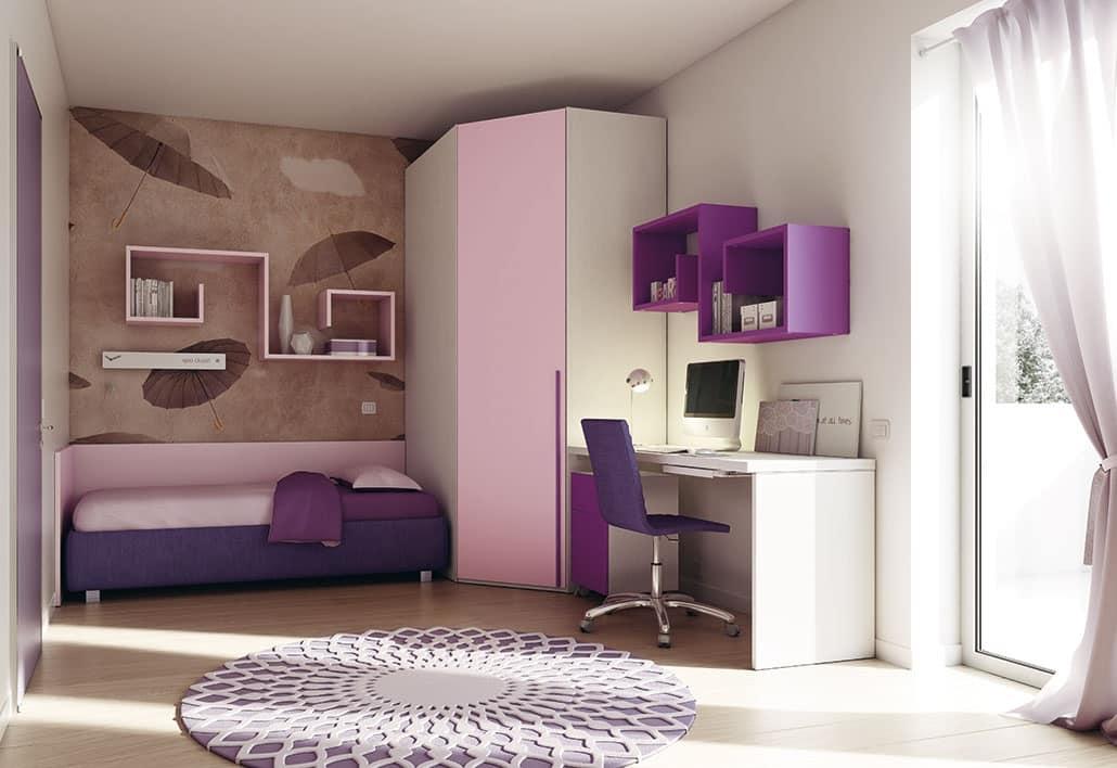 Schlafzimmer für Kinder, mit optimierten Räumen | IDFdesign