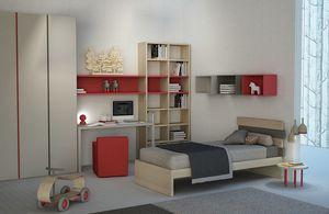 Natural comp.01, Kinderzimmer mit Bücherregal und Kleiderschrank