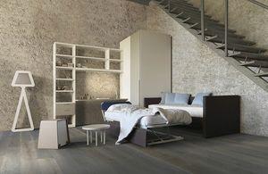 Natural comp.07, Schlafzimmer mit Schlafsofa mit einem zweiten Bett