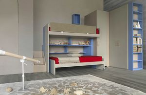 Natural comp.21, Schlafzimmer mit Etagenbett und Stehlager