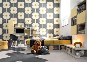 Comp. New 143, Einzel kid Schlafzimmer mit Bett, Schreibtisch, Bücherregal und Sitzplätze