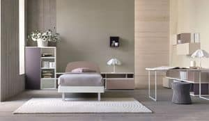 Comp. New 148, Modernes Schlafzimmer für Mädchen, in verschiedenen Farben