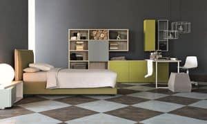 Comp. New 149, Möbel für Kinderräume, elegante Geometrien