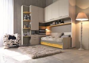 Comp. New 151, Moderne Zimmer für Kinder, mit Raumspartüren