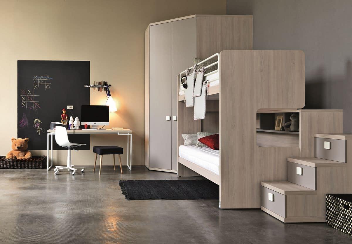 moderne m bel f r jungen schlafzimmer moderne bett f r jungen zimmer geeignet idfdesign. Black Bedroom Furniture Sets. Home Design Ideas