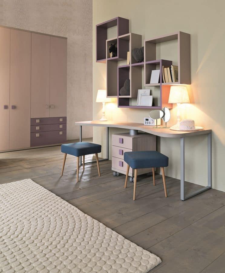 schlafzimmer f r m dchen mit betten mit schubladen schiebe. Black Bedroom Furniture Sets. Home Design Ideas