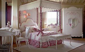 Nuvola, Schlafzimmer für kleine Mädchen, mit Himmelbett