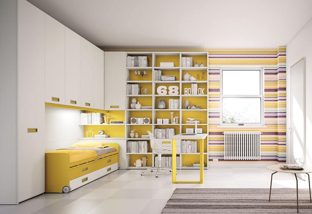 Moderne Kinderzimmer mit Halbinsel Schreibtisch | IDFdesign