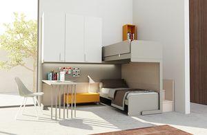 Warm comp.15, Corner Kid Schlafzimmer mit Etagenbett