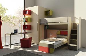 Warm comp.16, Kinderzimmer mit Etagenbett und Kleiderschrank