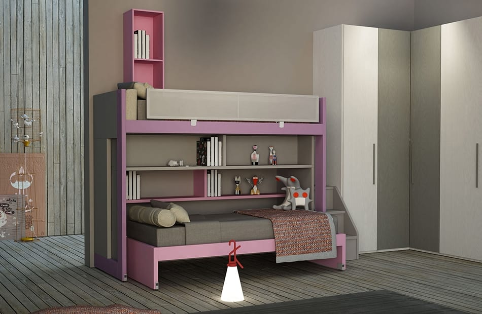 Etagenbett Mädchen : Schlafzimmer für mädchen mit etagenbett idfdesign