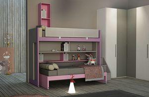 Warm comp.24, Schlafzimmer für Mädchen, mit Etagenbett