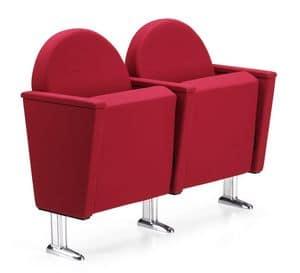 ARAN 584, Sessel für Theater und Kinos, verchromten Füßen