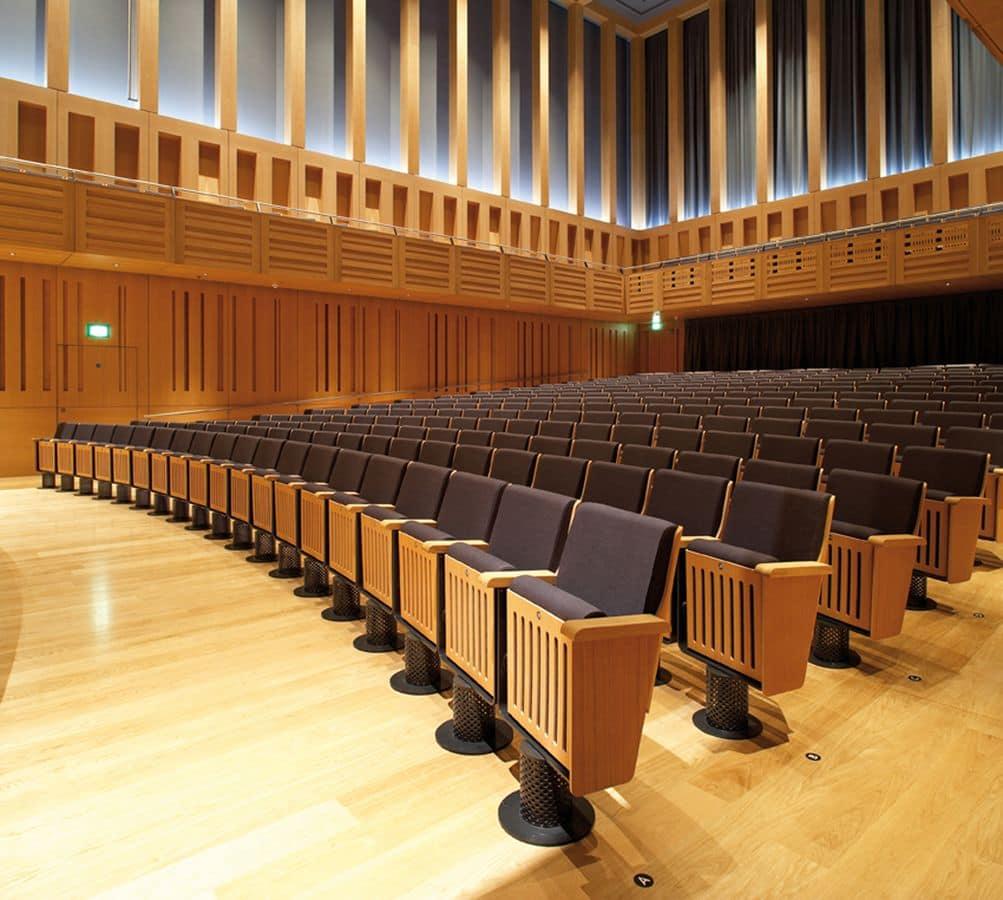 King, Sessel am Boden befestigt, Liegesitz, für Auditorien und Theatern