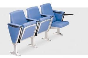 Steel, Sessel für Auditorien und Konferenzräume mit Liegesitz