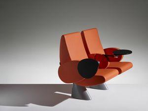 TULIP, Auditorium Sessel mit verstellbaren Armlehnen und Sitz