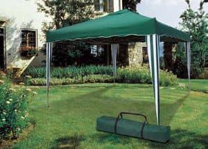 Faltender Gartenpavillon 3 x 3 Meter Market – GZ333POL, Quadratische Pavillon leicht wieder zu verschließen und zu transportieren