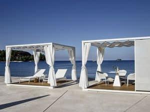Kioske, pavillons, strandkabinen